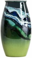 Poole Pottery Maya Manhattan Vase 26cm oval green new boxed