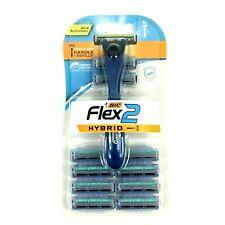 Bic Flex 2 Hybrid Razor And Cartridges 1 Handle 10 Refills