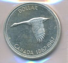 CANADA  DOLLAR 1967 ROTATED DIES 5-15 DEGREES - ICCS MS63
