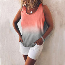 ef27ea4a9f Womens Summer Tunic Tops Plus Size Gradient Casual Beach.