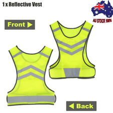 Outdoor Running Cycling Walking Safety High Visibility Reflective Vest Gear AU