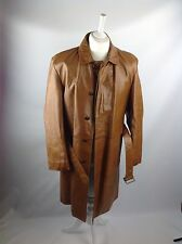 Cecil Gee Tanned Genuine Leather Coat Fully Lined Coat Size Xl good condition