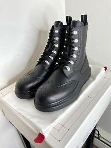 Alexander McQueen Leather Lace-up Boot (men)Black Size US 7 EUR 40 Made in Italy