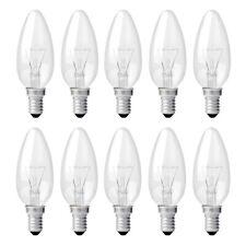 10 x Glühbirnen Kerzen 40W E14 klar Glühlampe 40 Watt B35 warmweiß dimmbar