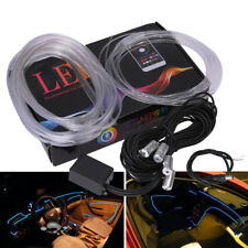 6M RGB LED Car Interior Neon Strip Light Sound Active Bluetooth Phone Control US