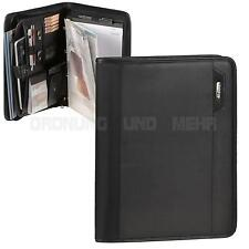 Ringbuchmappe Konferenzmappe A4 schwarz mit Tabletfach Orgamappe Verkaufsmappe
