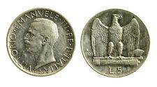 pcc1838_74) Vittorio Emanuele III (1900-1943) - 5 Lire Aquilino 1929