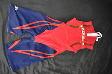 Zone3 Swim Skin Suit Tri Mens Size XS Red - Dark Royal Blue - Gold - RRP £140