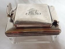 c1834 ANTIQUE ENGLISH Silver Travelling LOCKDOWN Inkwell WILLIAM IV