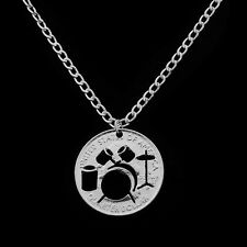 Alloy Hollow Drums Trendy Popular Jewelry Necklace Gifts Coin Pendant