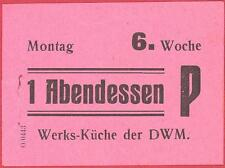 WWII - DWM Posen 1943 - forced labour Polish worker meal chit - more on ebay.pl