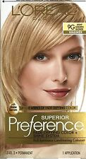 LOreal Paris Superior Preference Hair Dye Color # 9G LIGHT GOLDEN BLONDE VHTF