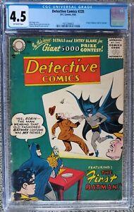 DETECTIVE COMICS #235 CGC 4.5 OW! THE FIRST BATMAN! TOUGH EARLY CODE!