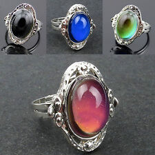 Retro Changing Color Women Mood Ring Fashion Jewelry Temperature Control Adjust