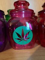 Pink Glass Stash Jar Apothecary Prescription Weed Smell Proof