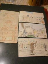 Sanzo Wada 1940's  Original Japanese Woodblock Print Set Postcards Japan