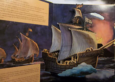 THE VOYAGE OF COLUMBUS IN HIS OWN WORDS- POP-UP -MOVABLE BOOK-WELPHY-HABER