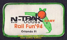 PATCH Badge  1994 N-TRAK  RAIL FUN '94 N Scale  MODULAR RAILROAD Orlando FL used