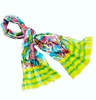 NWT Ann Taylor Loft Multicolored Striped Irresistibly Juicy Tropical Print Scarf