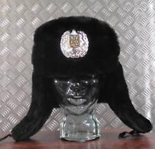 ORIGINALE RUSSO / Soviet/USSR nero Police COSSACK CAPPELLO - Taglia 60cms -