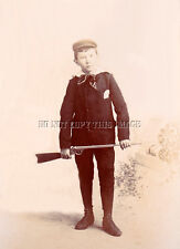 ANTIQUE REPRINTED 8 x 10 PHOTOGRAPH BOY WITH EARLY DAISY BB GUN RIFLE