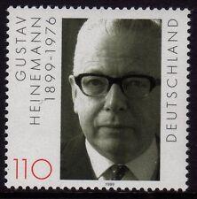 Germany 1999 Birth of Gustav Heinemann, Politician SG 2916 MNH