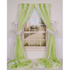 SET OF 2 CURTAIN CRITTERS GIRLS ROOM DECOR WHITE KITTY CAT CURTAIN TIEBACKS