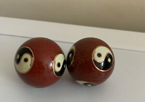 Small Vintage Chinese Ying Yang Chiming Balls–Stress Relief