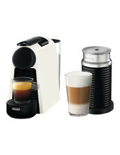 NEW by Delonghi Essenza Mini & Milk capsule coffee machine: EN85WAE White