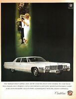 1968 Cadillac Vintage Print Ad Model Year 1969 Fleetwood Brougham