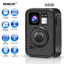 Hd 1440P Police Body Worn Camera 64Gb Gps WiFi Security Camcorder Mini Ambarella