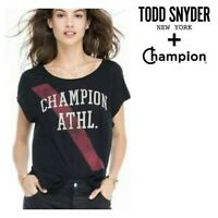 🆕Todd Snyder CHAMPION WOMEN'S T-Shirt MEDIUM Black Red
