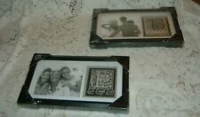 """Family Picture And Live Laugh Love Picture Frame Combo 6""""X11.5"""" Matted Glass New"""