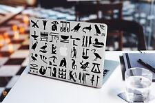 Jeroglíficos Calcomanía Para Macbook Pro Pegatina de vinilo Laptop Mac Air Pyramid Egypt