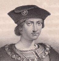 Portrait XIXe Charles VIII Charles l'Affable Amboise