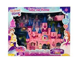 Large Fairy Princess Castle Toy Lights, Sounds, Prince and Princess Figures
