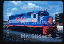 Original Slide NdeM Nacionales de Mexico Fresh Blue Paint SD45U 13063 In 1988