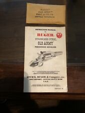 Ruger Old Army Percussion Revolver Manual And Nipple Wrench