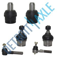 NEW 6 pc Kit - Pair of Front Upper and Lower Suspension Ball Joint + Tie Rod End