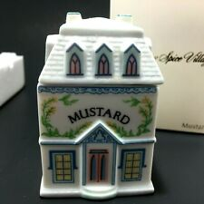 Lenox Spice Village Mustard Fine Porcelain 1989 New in Box Replacement House