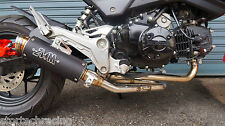 ZoOM Exhaust Honda MSX 125 GROM 125 MSX 125SF 2013-2018 Full System Black 2SLZ