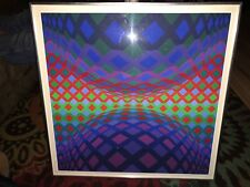 """Victor Vasarely (1908-1997) """"Reech"""" Original serigraph on paper -- signed"""