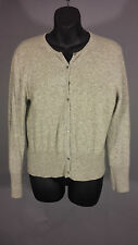 ANN TAYLOR 100% Cashmere Gray L Sweater wear / Upcycle Cutter Scrap Craft Repair