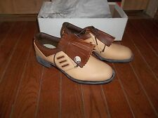New Pro Shu Golf Shoes Womens Brown Front Flap Size 5 Or 5.5 USA