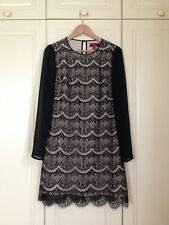 TED BAKER black floral lace sheer sleeve tunic dress top victoriana asos 3 12