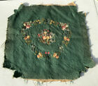 Antique Needlepoint Tapestry Panels Chair Seat Cover Cross Stitch Fruit