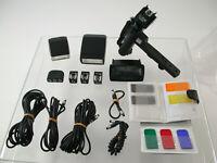 Posten Lot OLYMPUS OM  Blitz flash /T20 T32 Grip 2 Tele-Zoom Kabel 21mm etc. /19