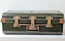 Iron Trunk Lock Storage Trunk Box Old Antique Home Decor Collectible BF-36