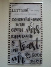 LETTER IT CLEAR STAMPS BY RANGER WEDDING BNIP *LOOK*