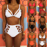 Womens High Waisted Bikini Set Push Up Bra Padded Swimwear Bathing Suit Swimsuit